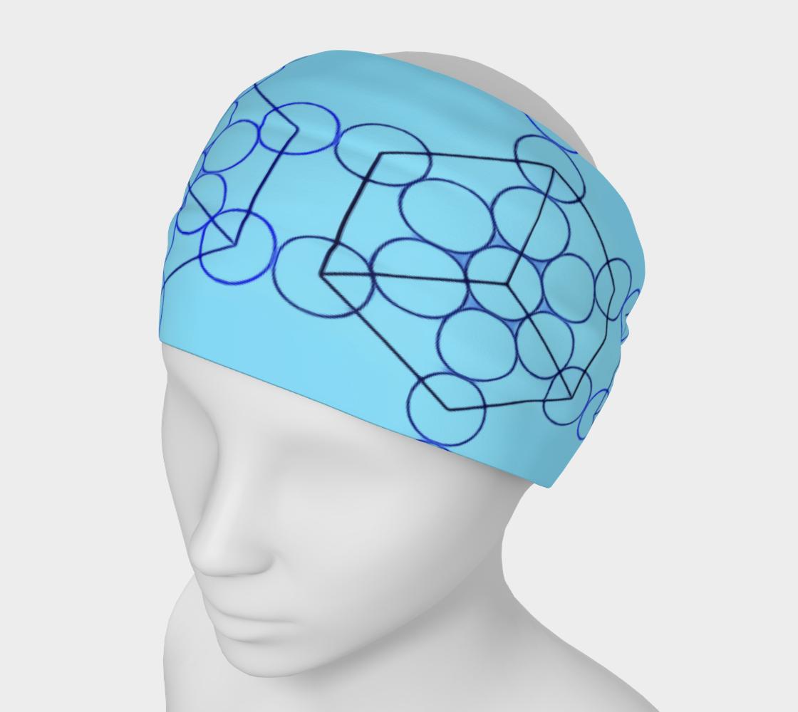 Geometric Tiling Blue Headband preview