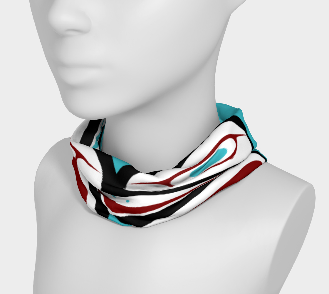 Northwest Totem Art Buff Gaiter Face Cover Headband Teal Background preview #3