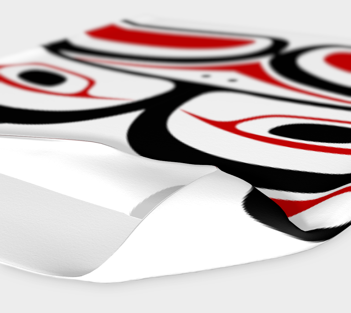 Northwest Totem Art Buff Gaiter Face Cover Headband  White Background preview #4