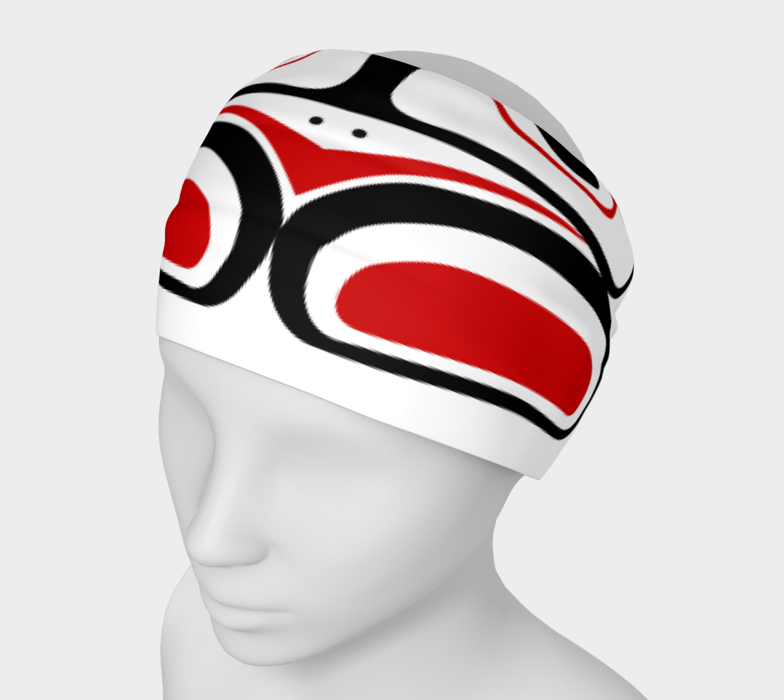 Northwest Totem Art Buff Gaiter Face Cover Headband  White Background preview #1