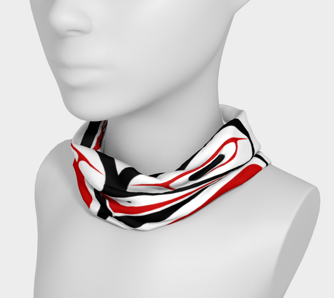 Northwest Totem Art Buff Gaiter Face Cover Headband  White Background preview #3