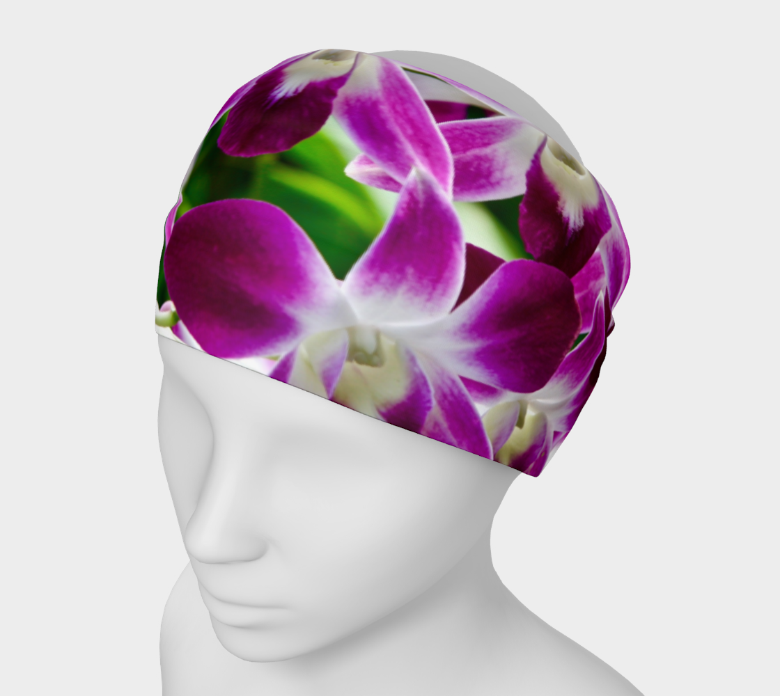 Orchid Garden Headband & Face Covering preview
