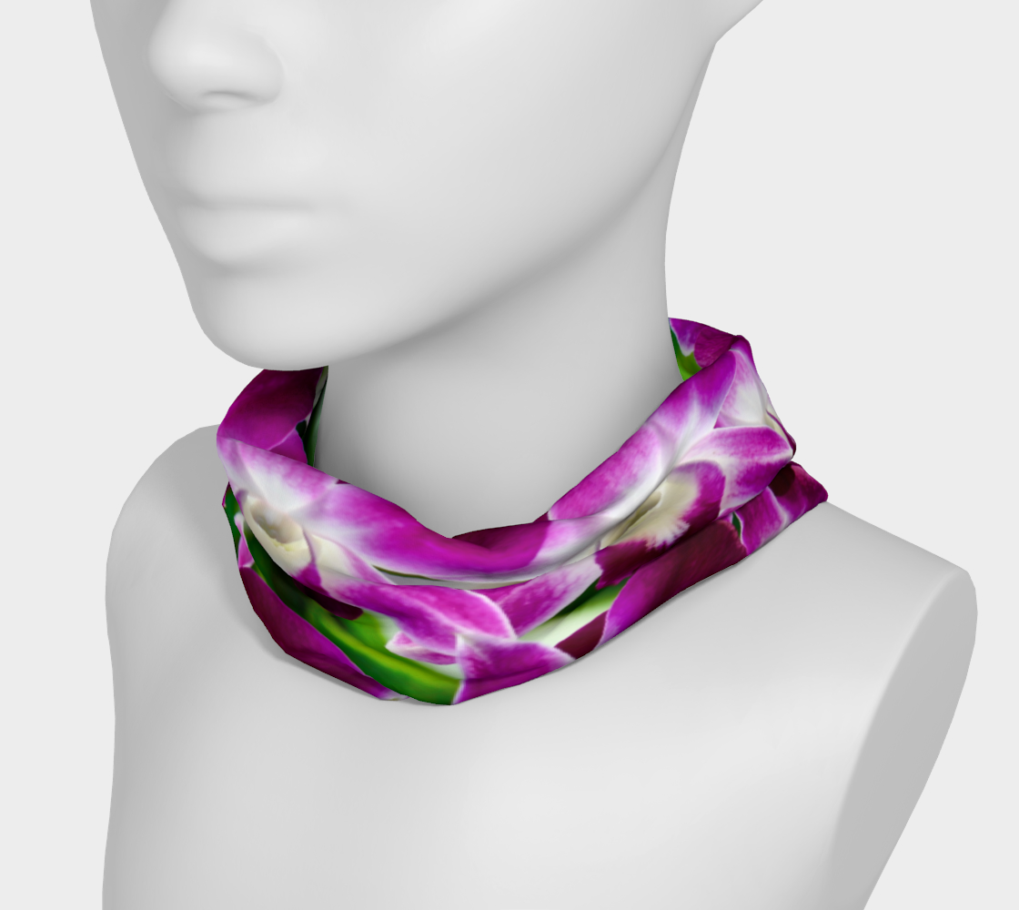 Orchid Garden Headband & Face Covering preview #3