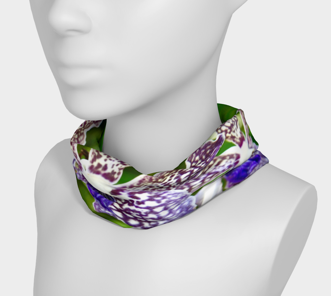 Orchid Garden 2 Headband & Face Covering preview #3