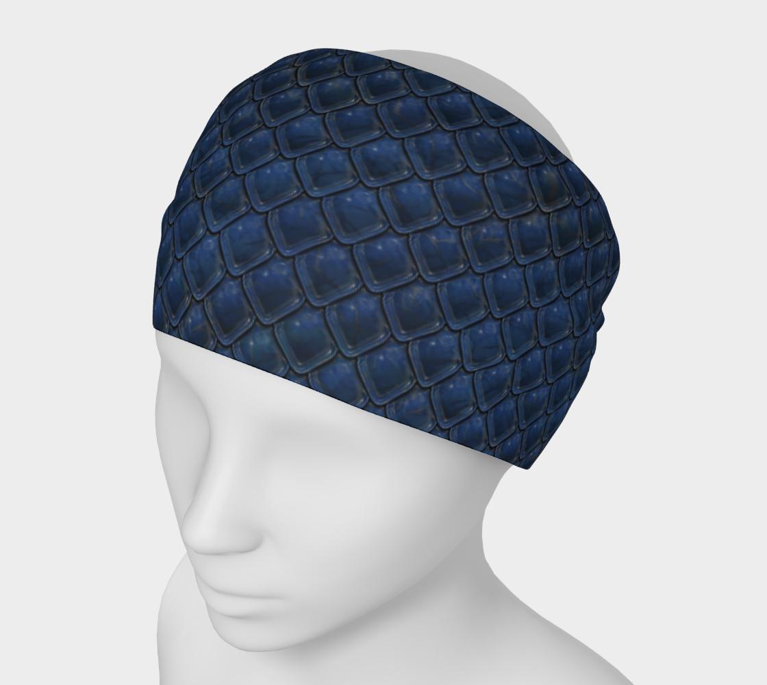 Headband Mask - Cobalt Dragon preview