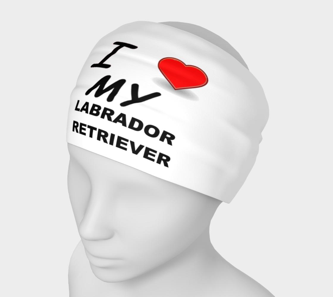Labrador Retriever love headband preview