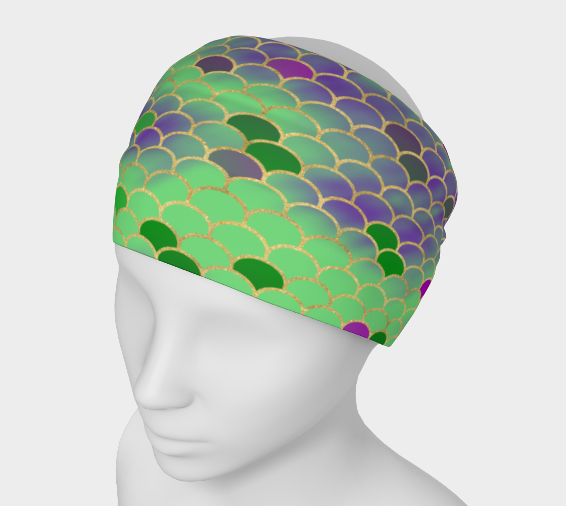 Green and Purple Mermaid Scales Headband preview