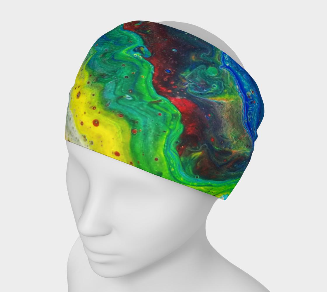 rainbow oil spill headband preview