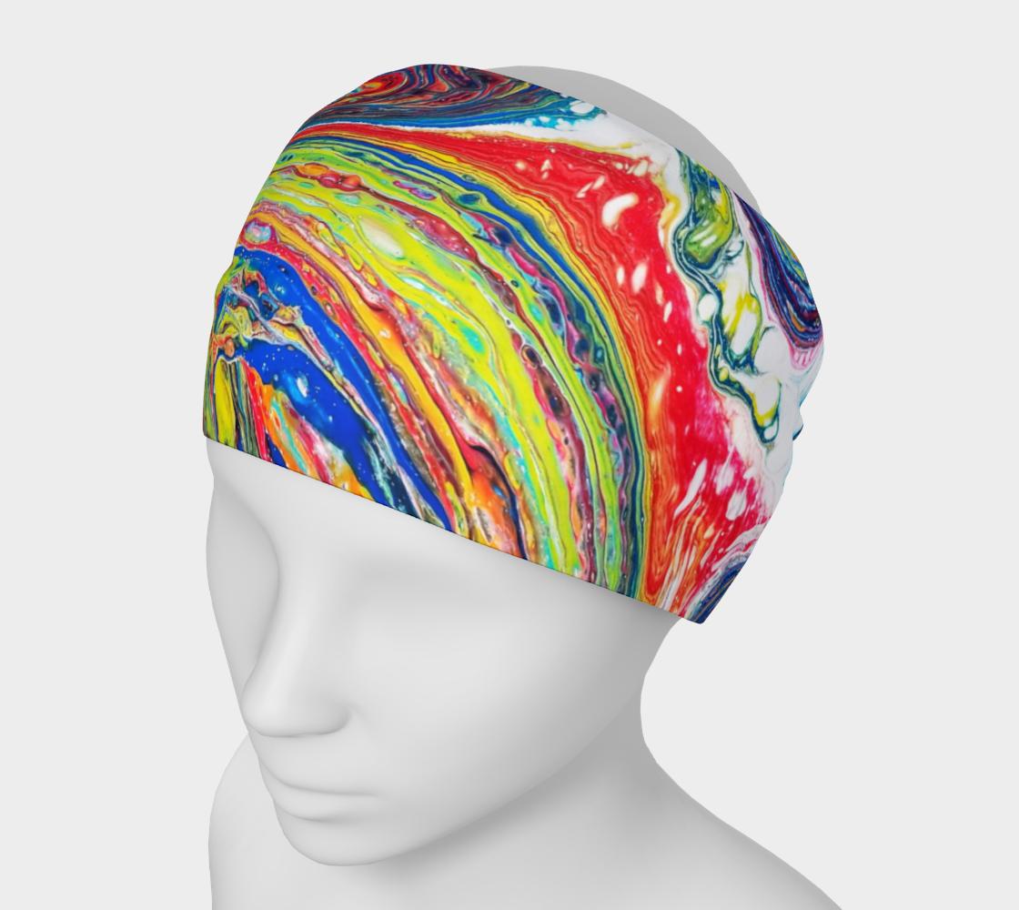 rainbow swirl headband preview