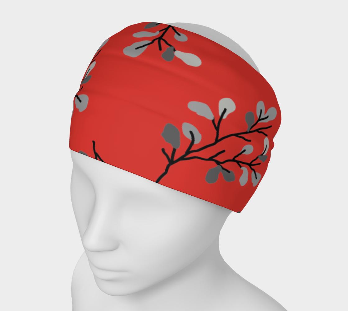 Grey Leaf Stem on Red preview