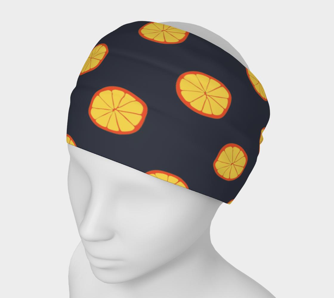 Orange Slices On Black preview