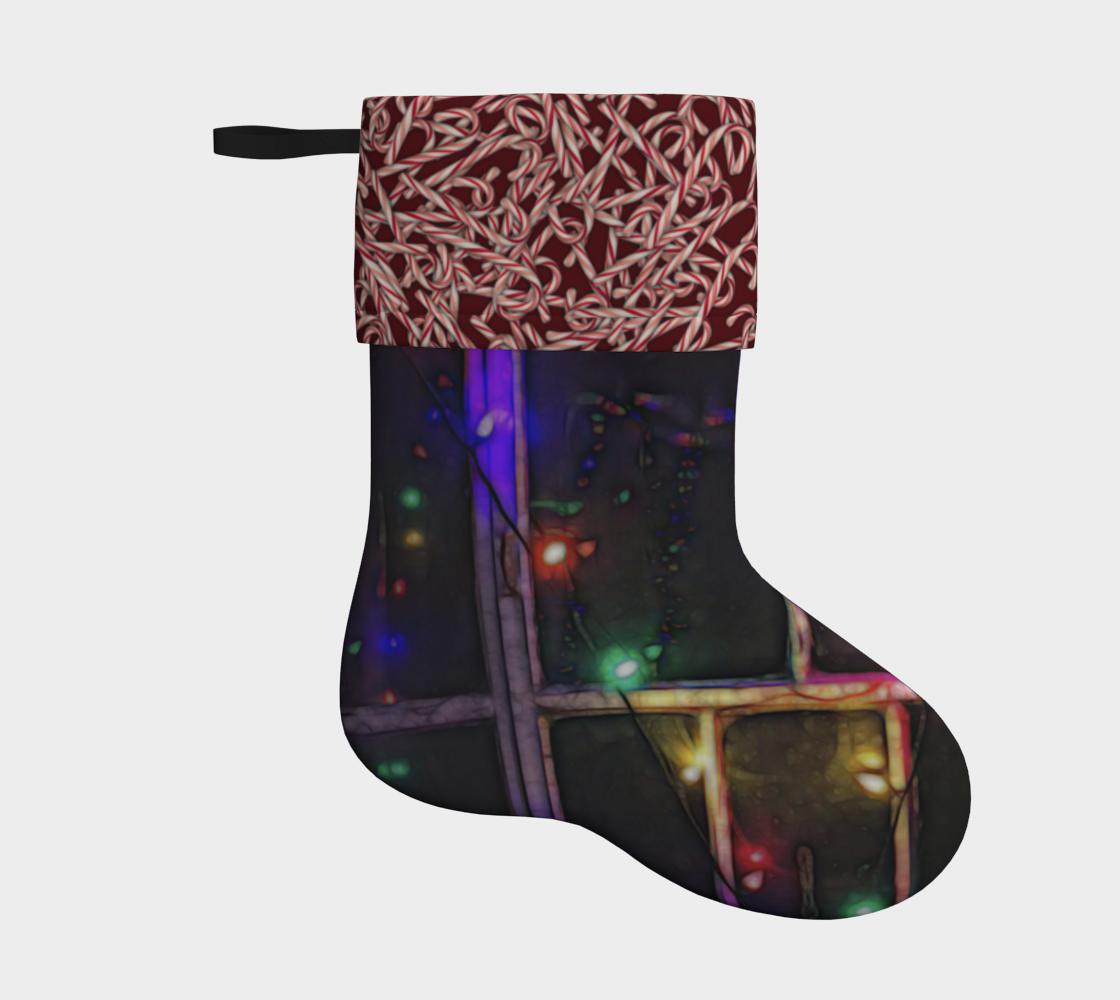 Aperçu de Christmas Light refraction Holiday Stocking