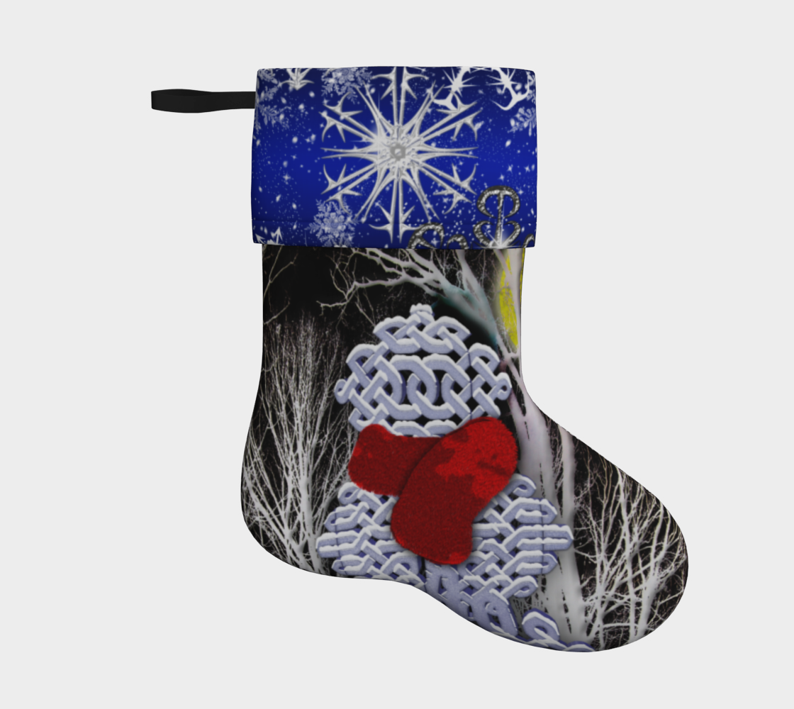 Aperçu de Celtic Knot Snowman Holiday Stocking