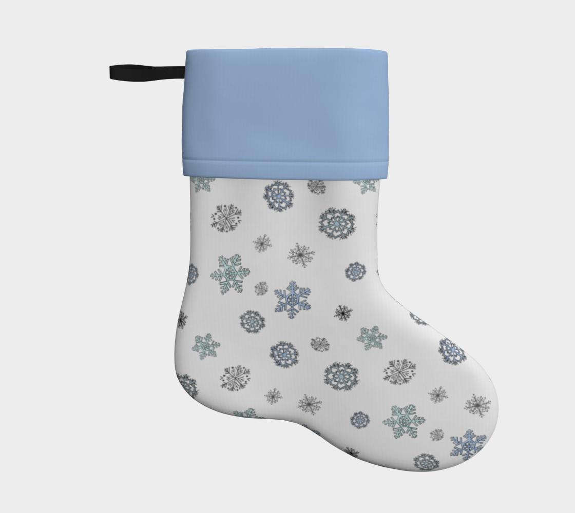 Aperçu de Snowflakes Stocking