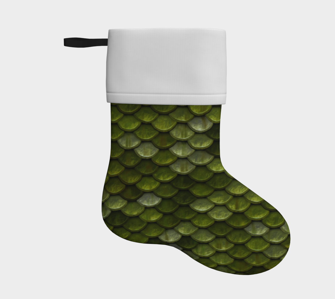 green scales holiday christmas stocking preview