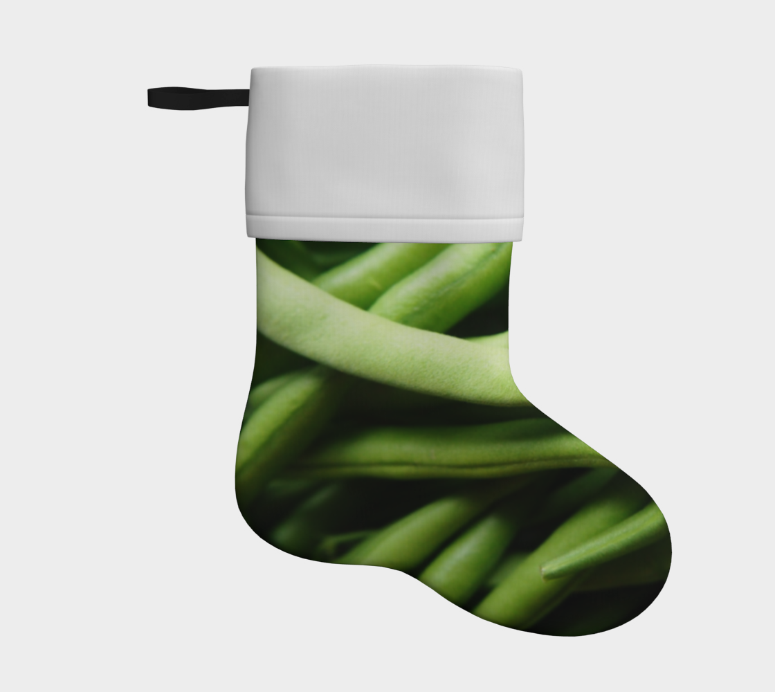 green beans holiday christmas stocking preview
