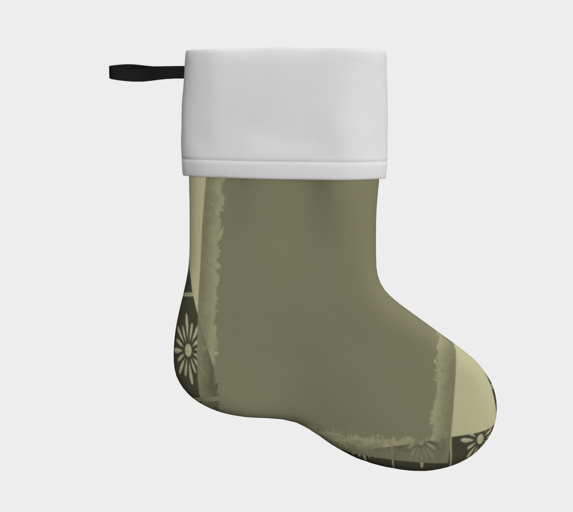 moss green abstract holiday christmas stocking preview