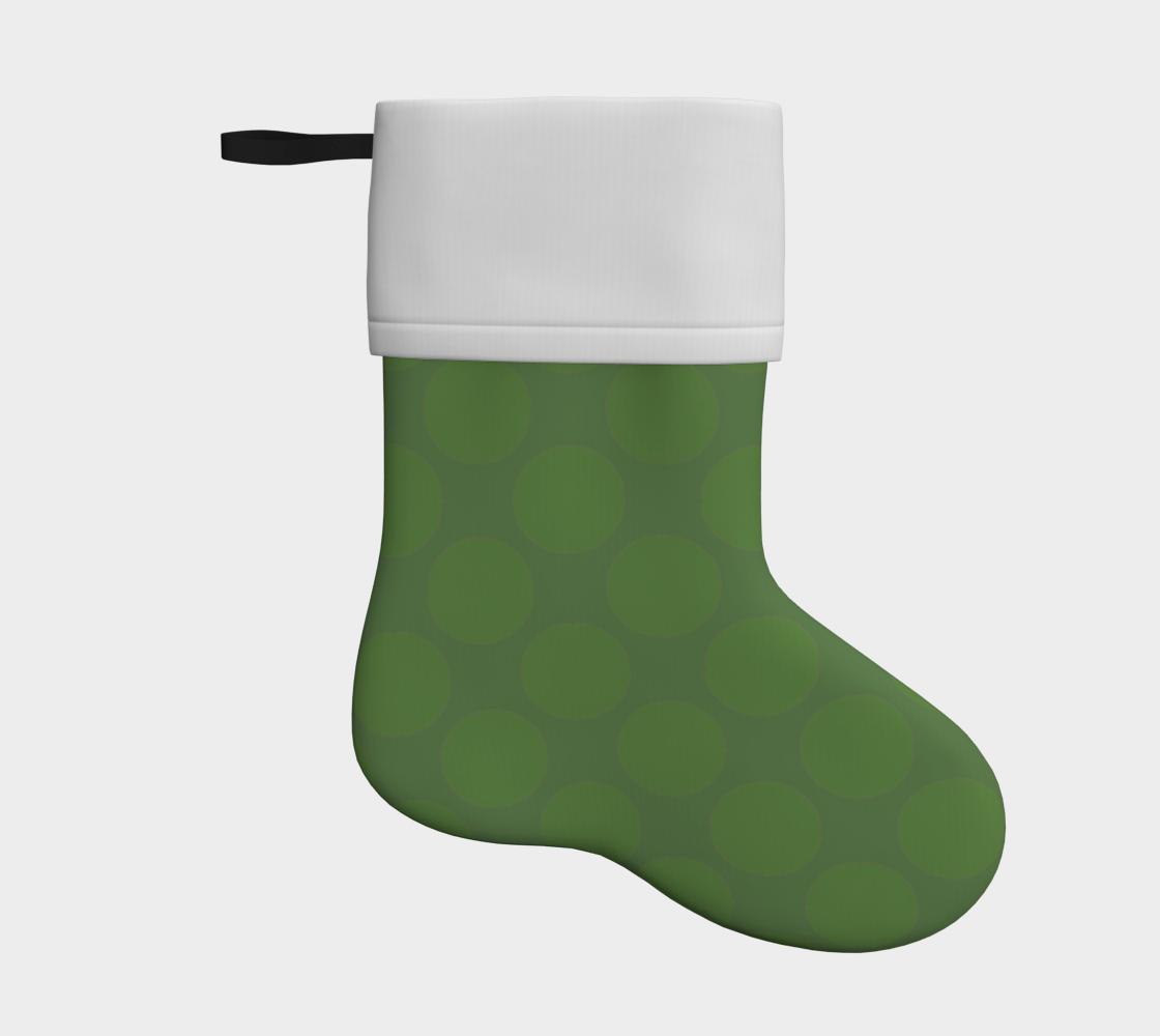 olive/green polka dots holiday christmas stocking preview
