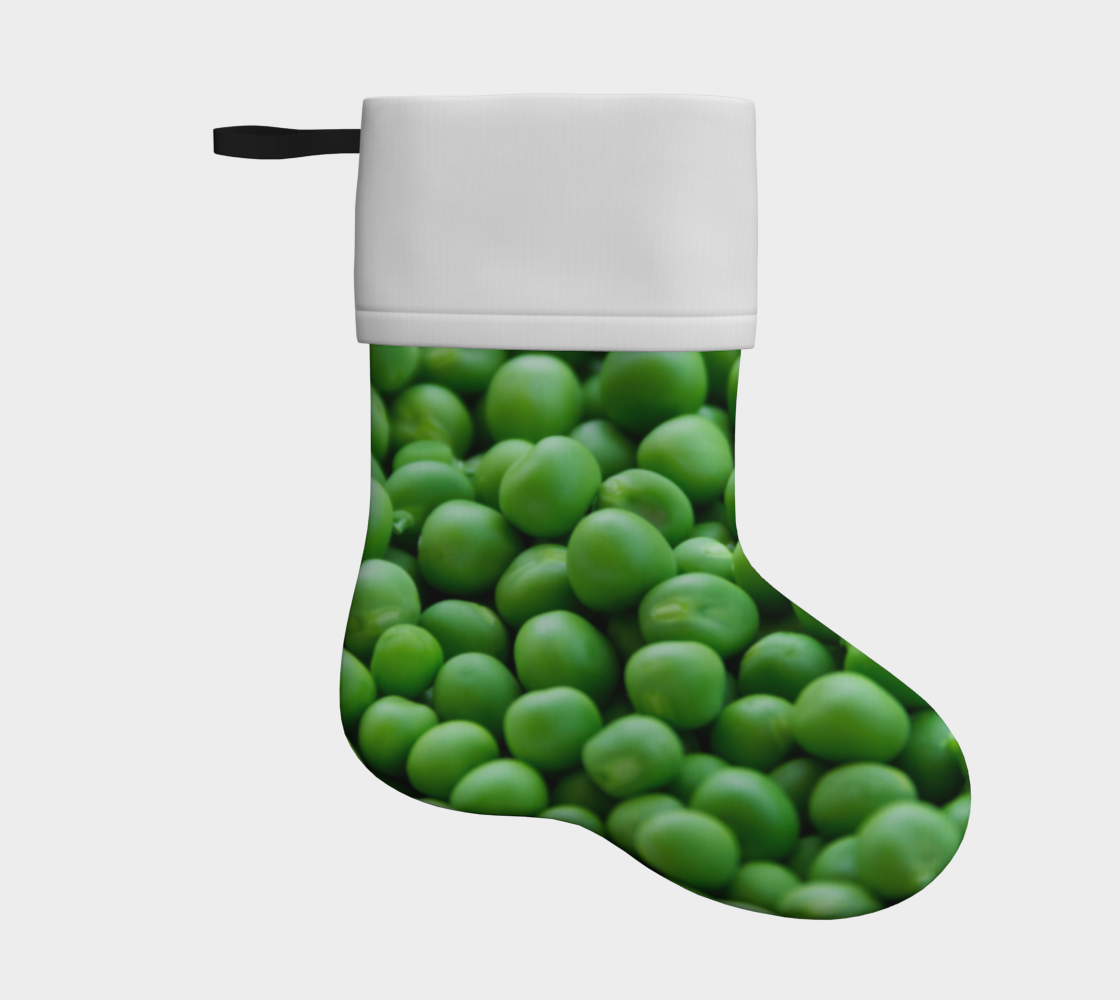 peas holiday christmas stocking preview