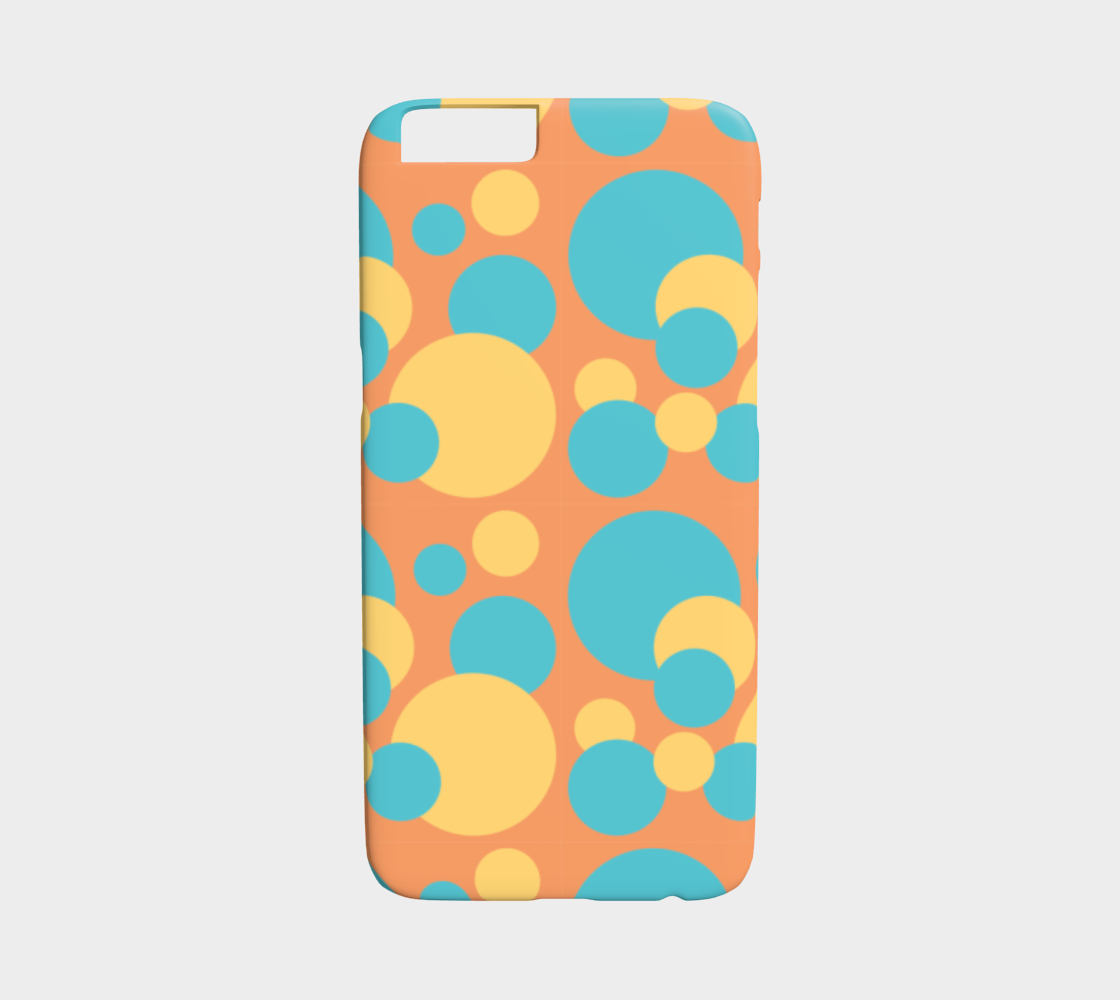 Retro IPhone 6/6S Case in Blue and Yellow Dot Pattern preview