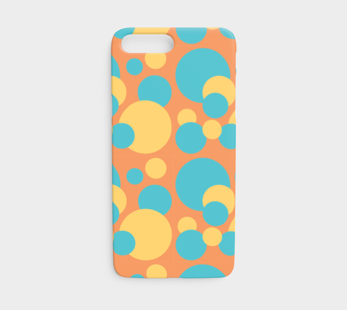 Retro IPhone 7/8 Case in Blue and Yellow Dot Pattern preview