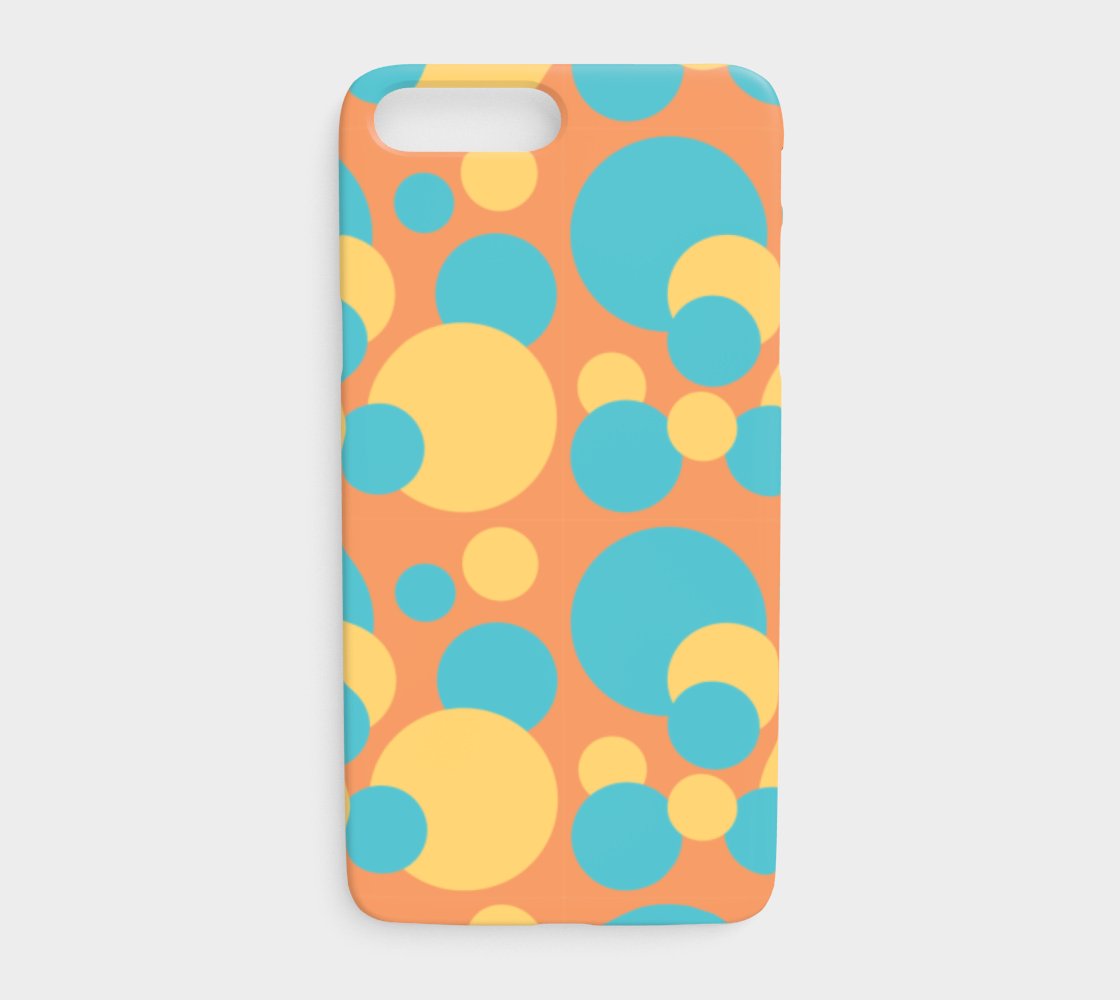 Retro IPhone 7 Plus/8 Plus Case in Blue and Yellow Dot Pattern preview
