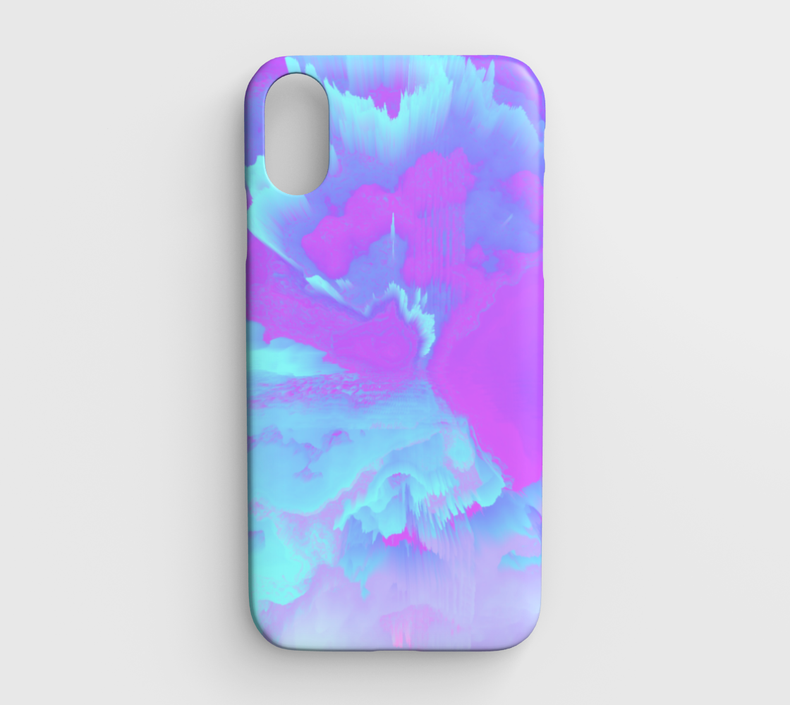 Organized Chaos Glitched Fluid Art IPhone XR preview
