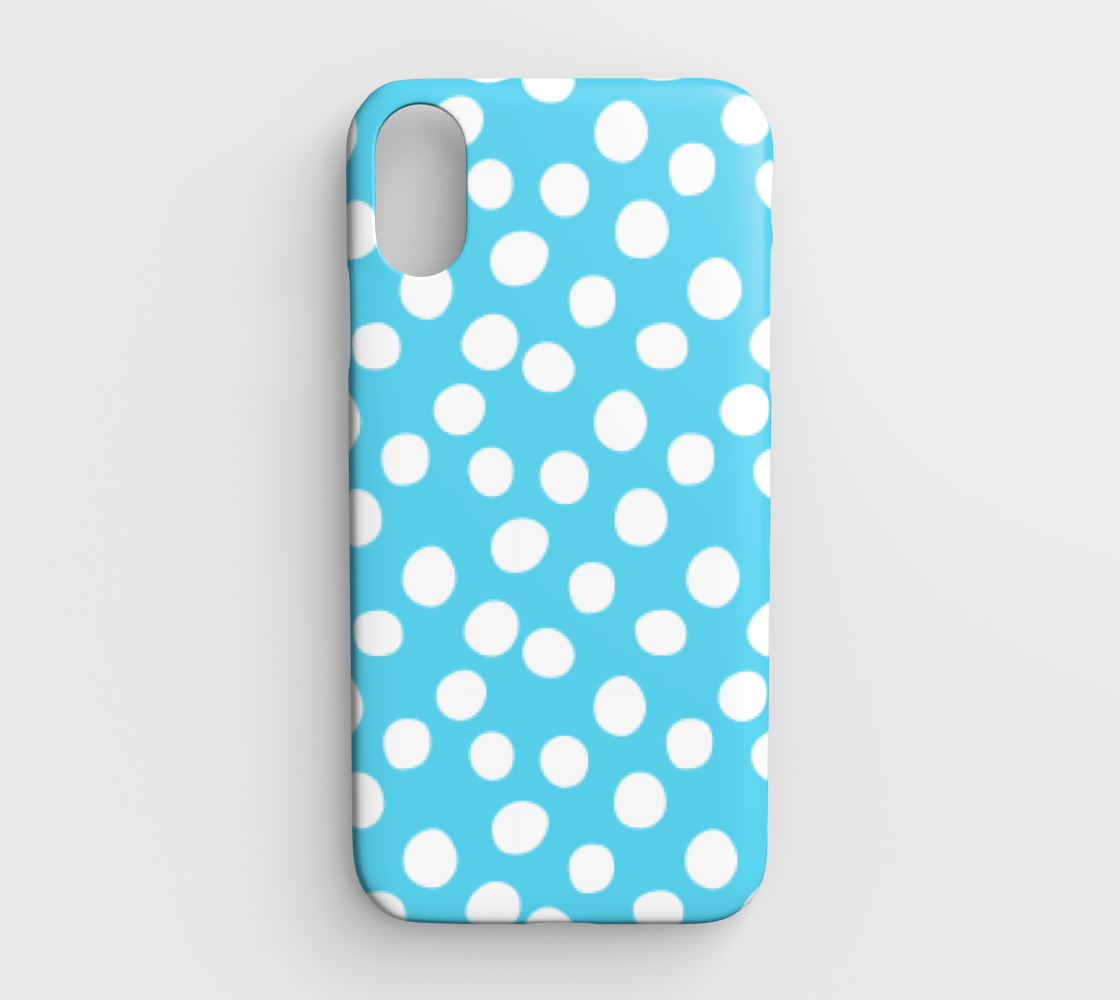 All About the Dots iPhone XR Case - Blue preview