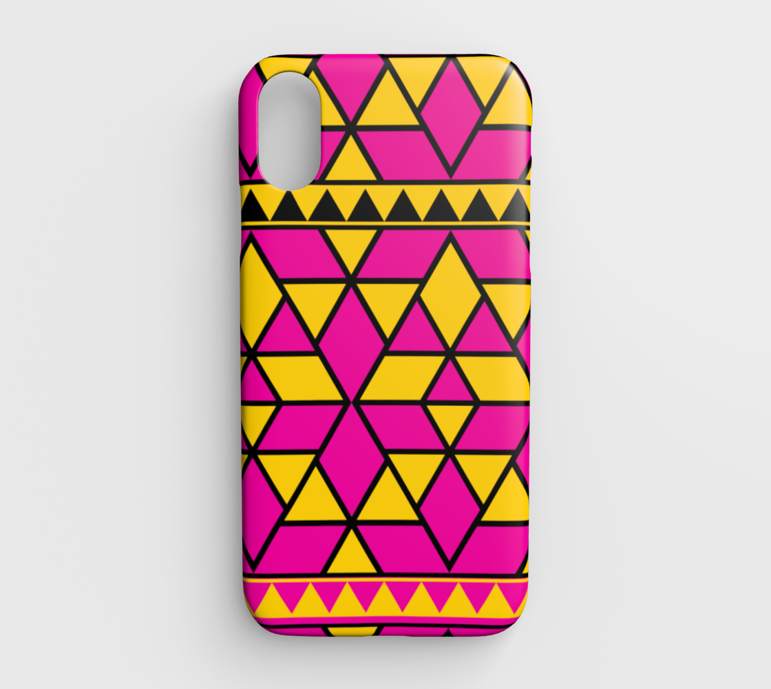 pink yellow triangles preview