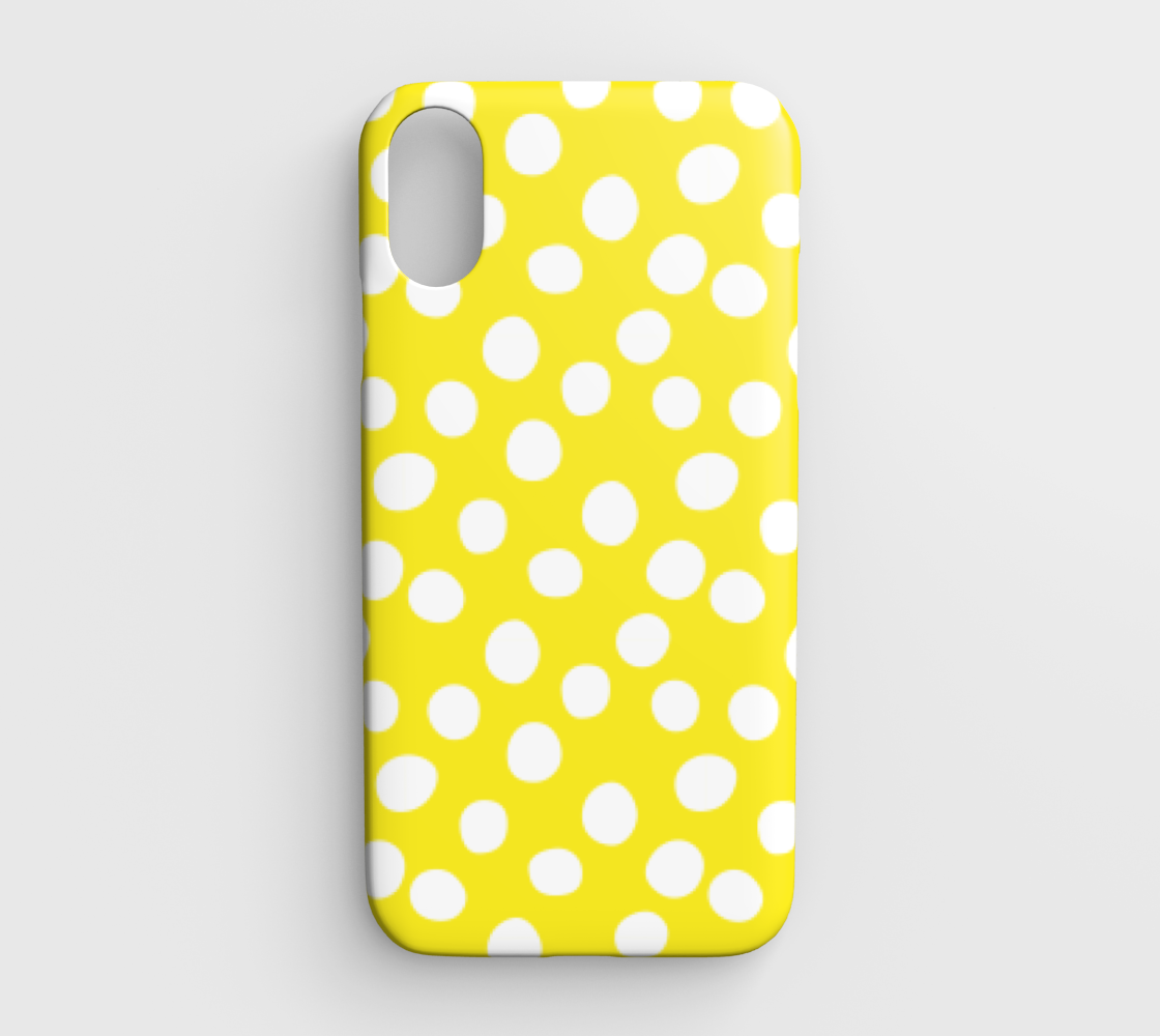 All About the Dots iPhone XR - Yellow preview