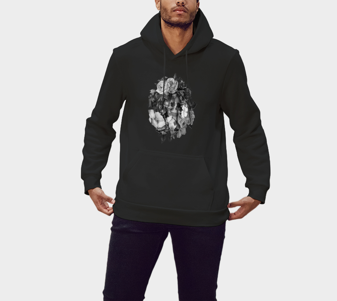 Skull Floral Memento Pullover Hoodie preview