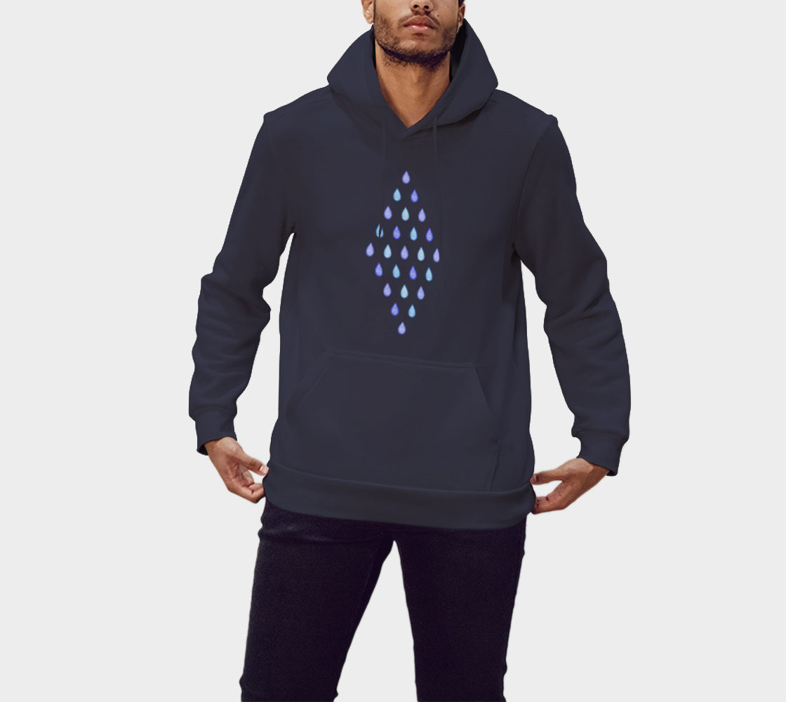 Blue raindrops Pullover Hoodie preview