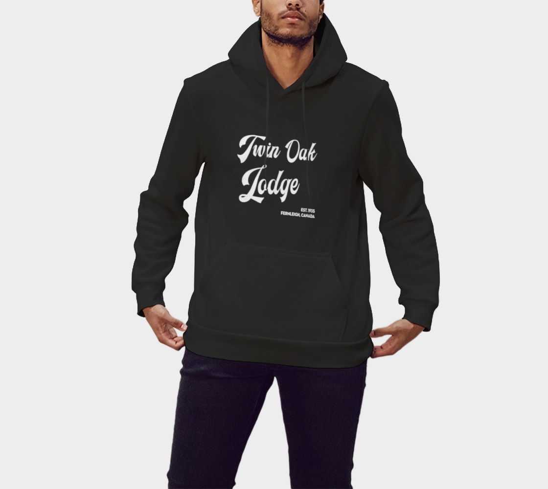 Twin Oak Classic Hoodie White Text preview