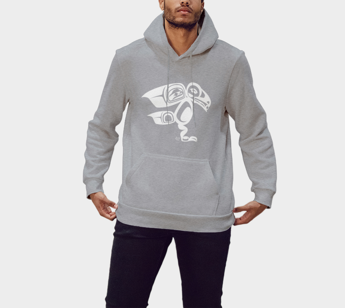 Raven Hoodie Light Gray preview #1