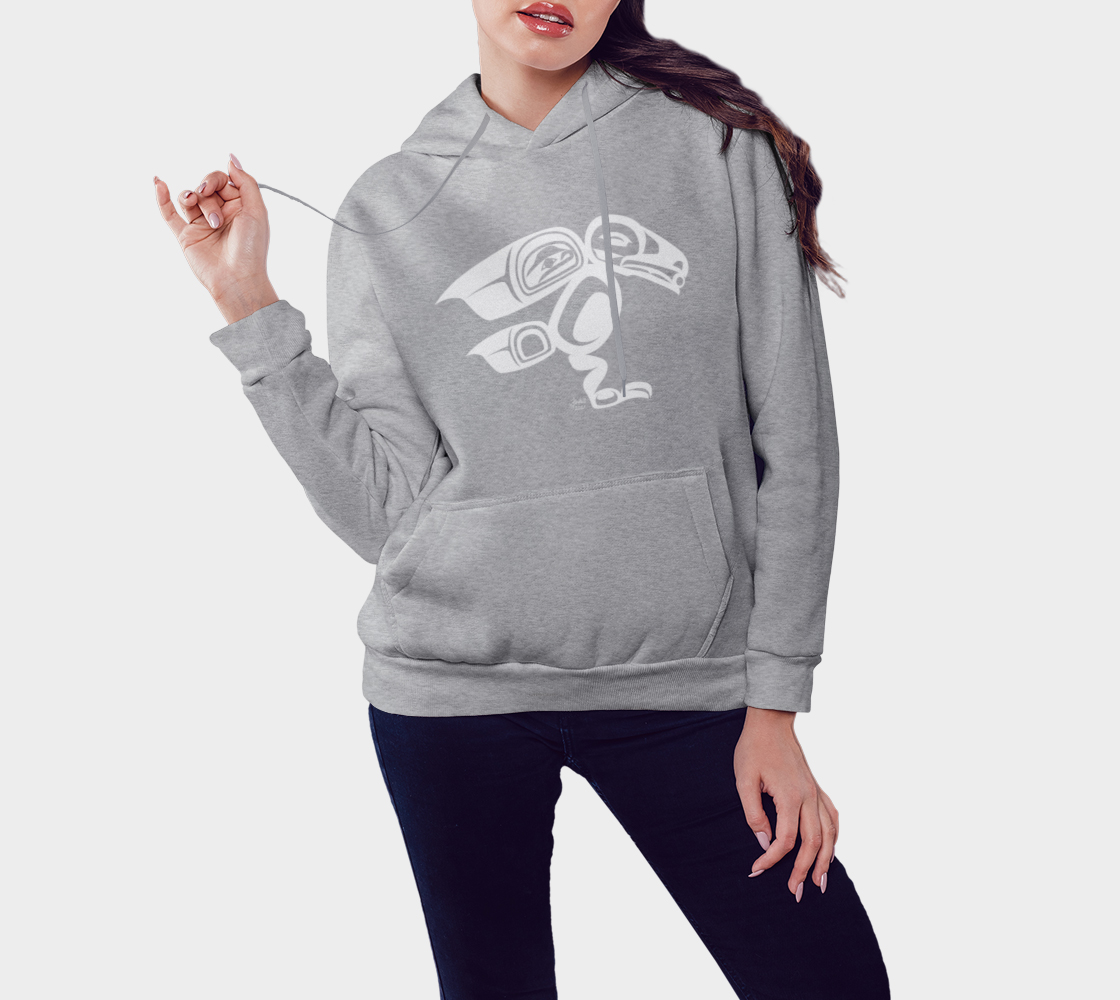 Raven Hoodie Light Gray preview #3