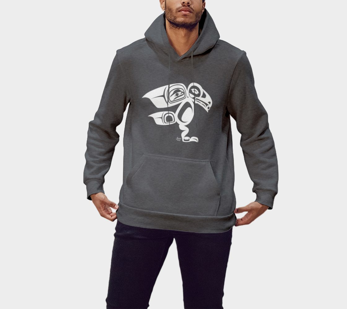Raven Hoodie Gray preview #1