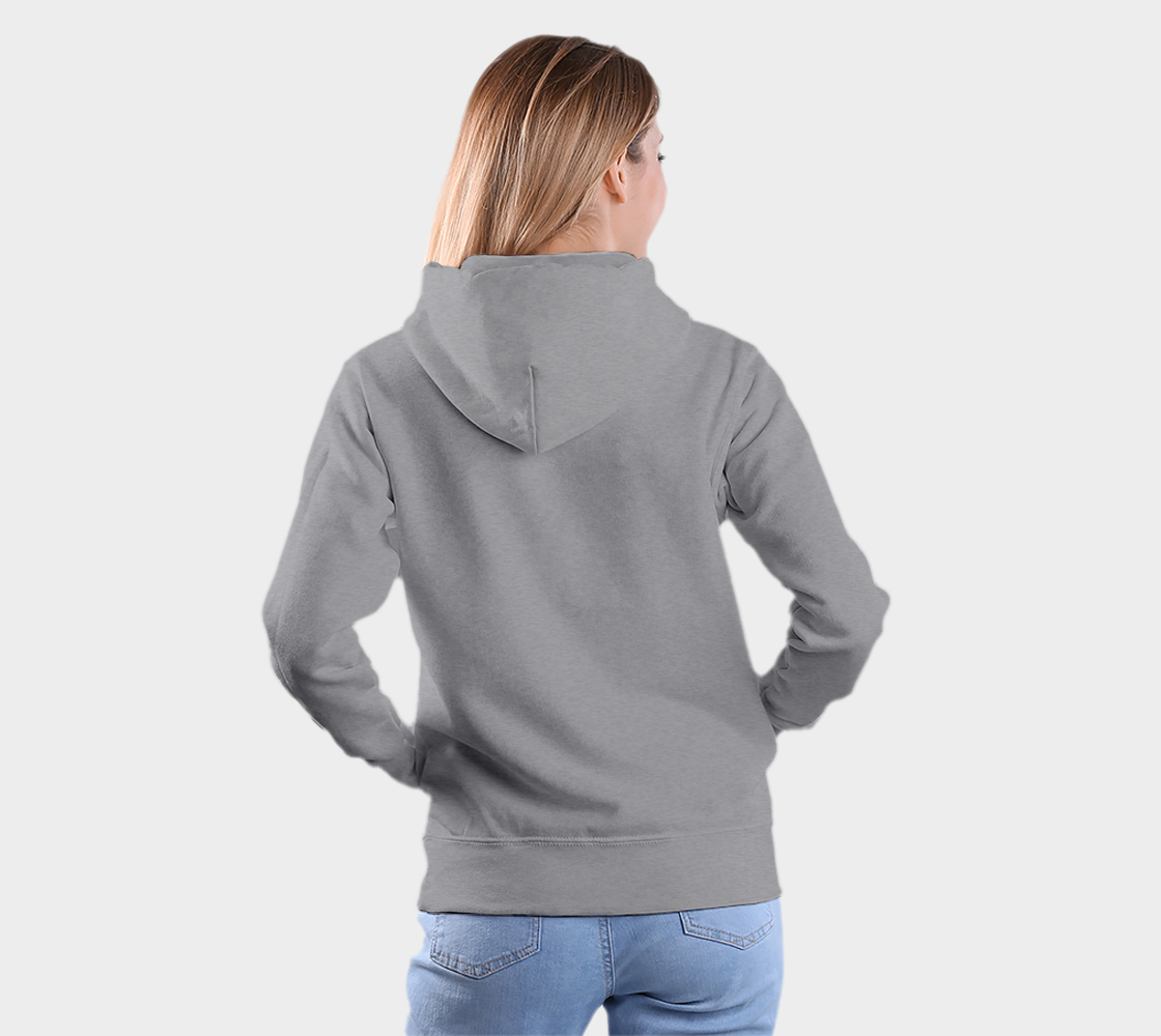 Wolf Hoodie Light Gray preview #5