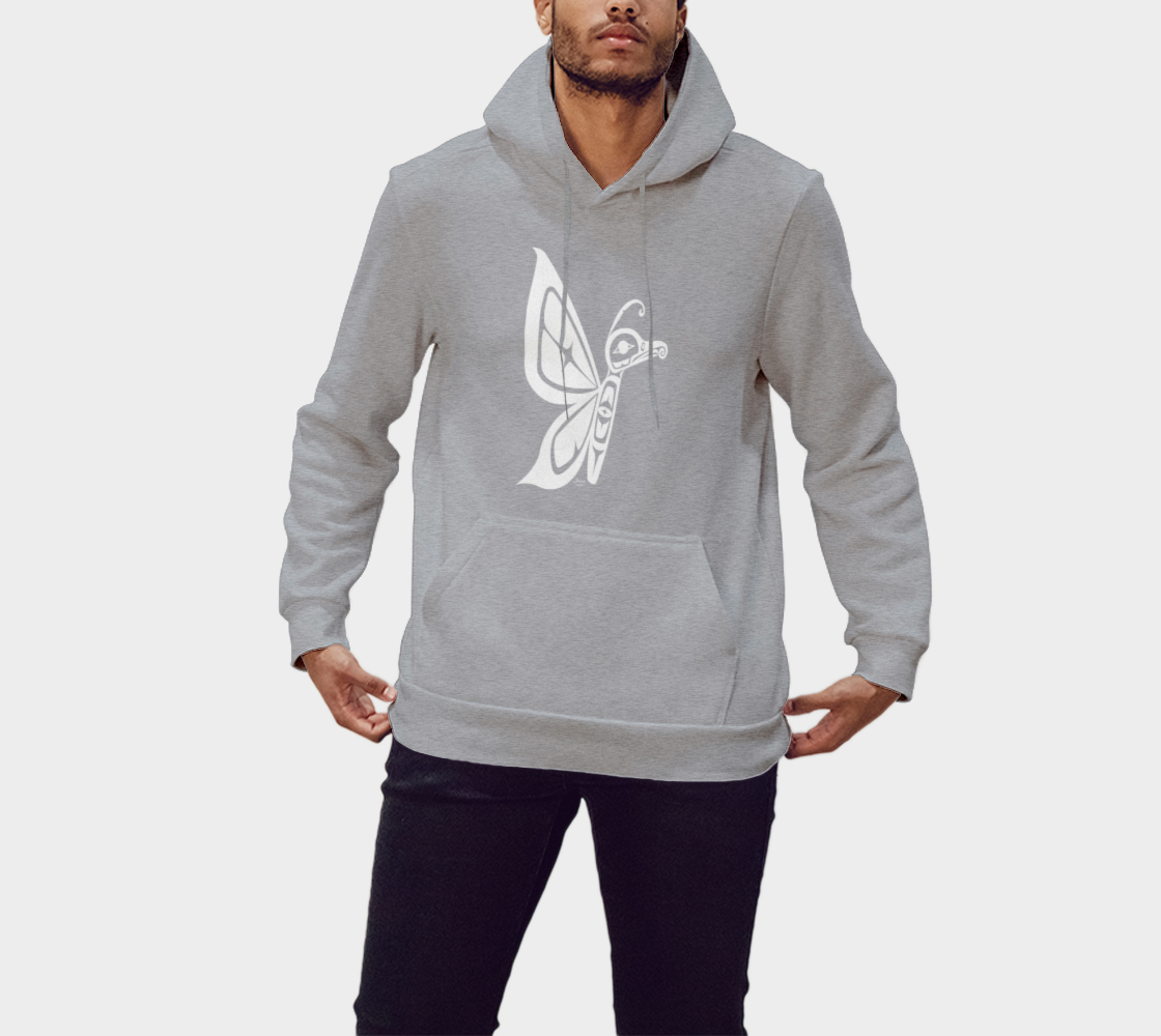 Butterfly Hoodie Light Gray preview #1