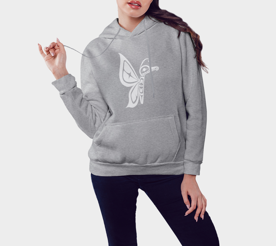 Butterfly Hoodie Light Gray preview #3