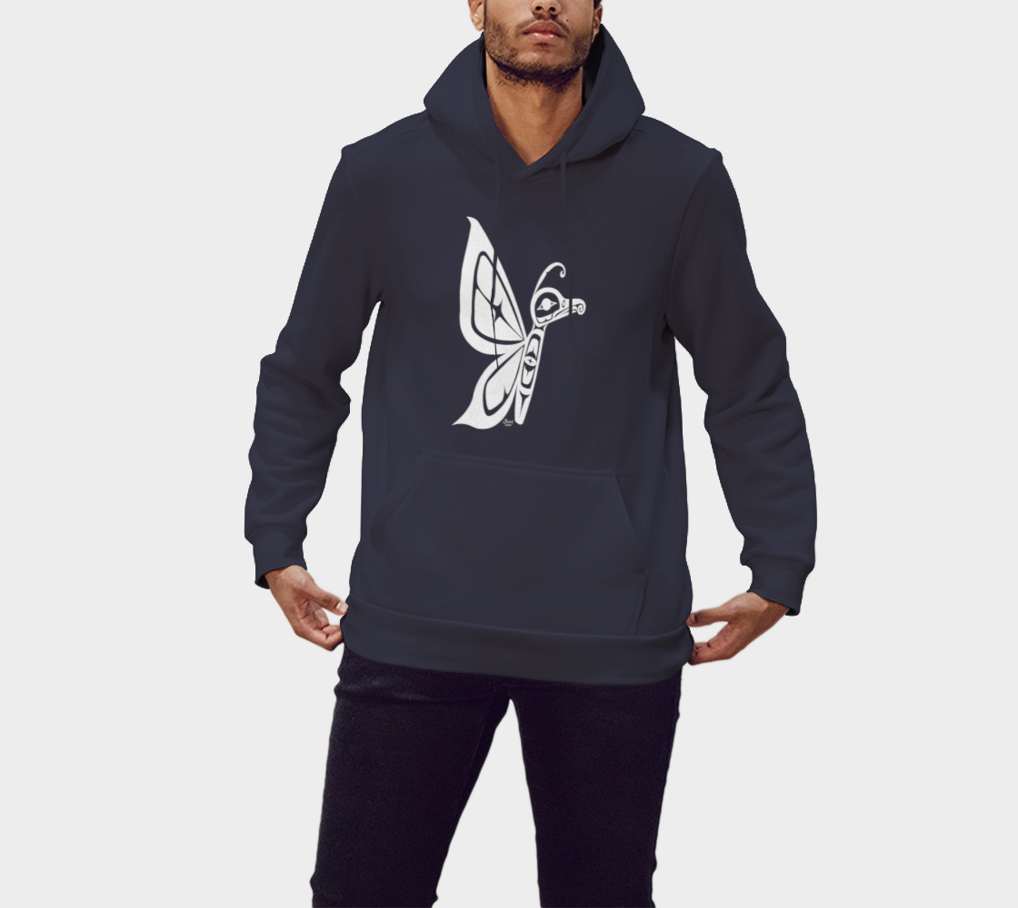 Butterfly Hoodie Blue preview #1