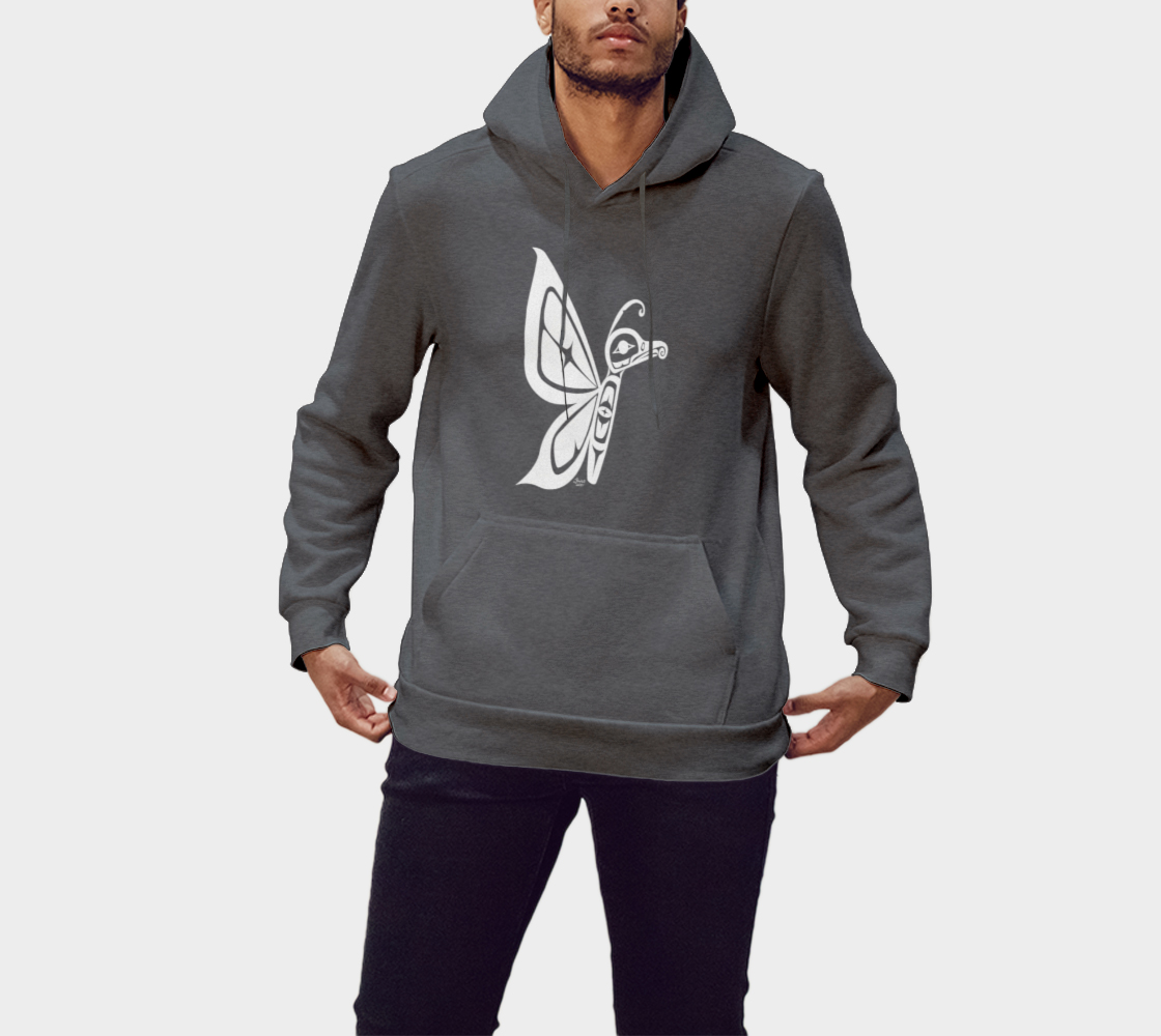 Butterfly Hoodie Gray preview #1