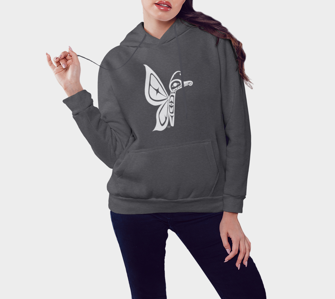 Butterfly Hoodie Gray preview #3