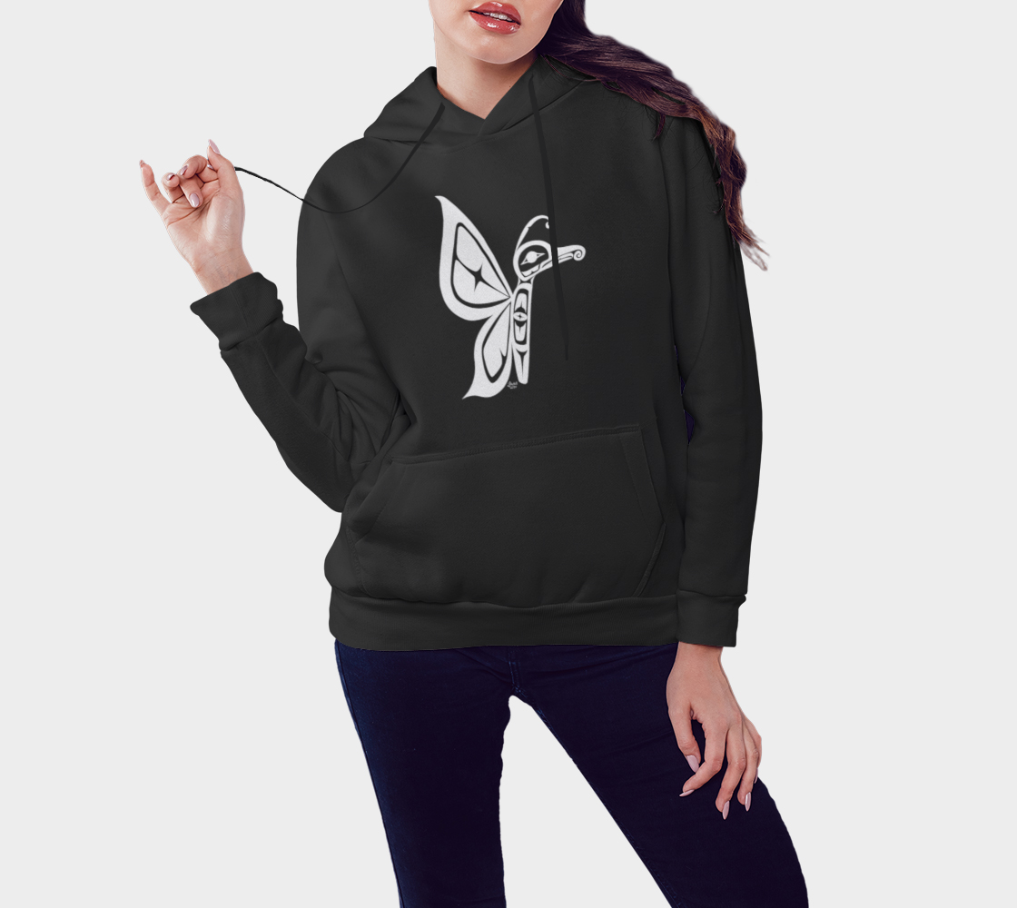 Butterfly Hoodie Black preview #3