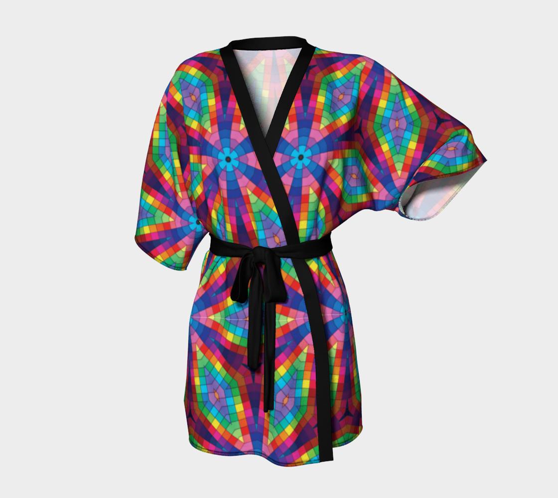 Aperçu de Kaleidoscope Rainbow Kimono Robe