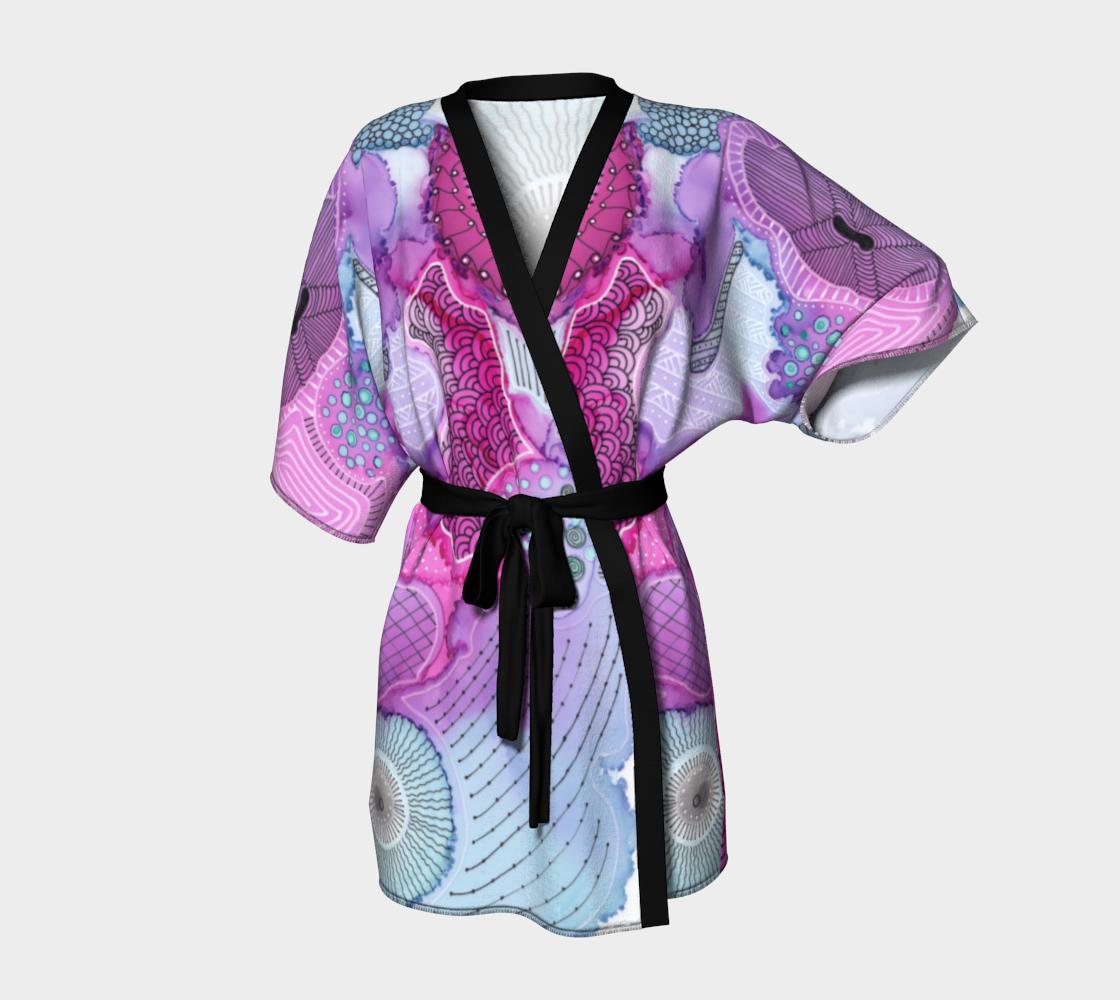 Sea Anemone Short Kimono Robe preview