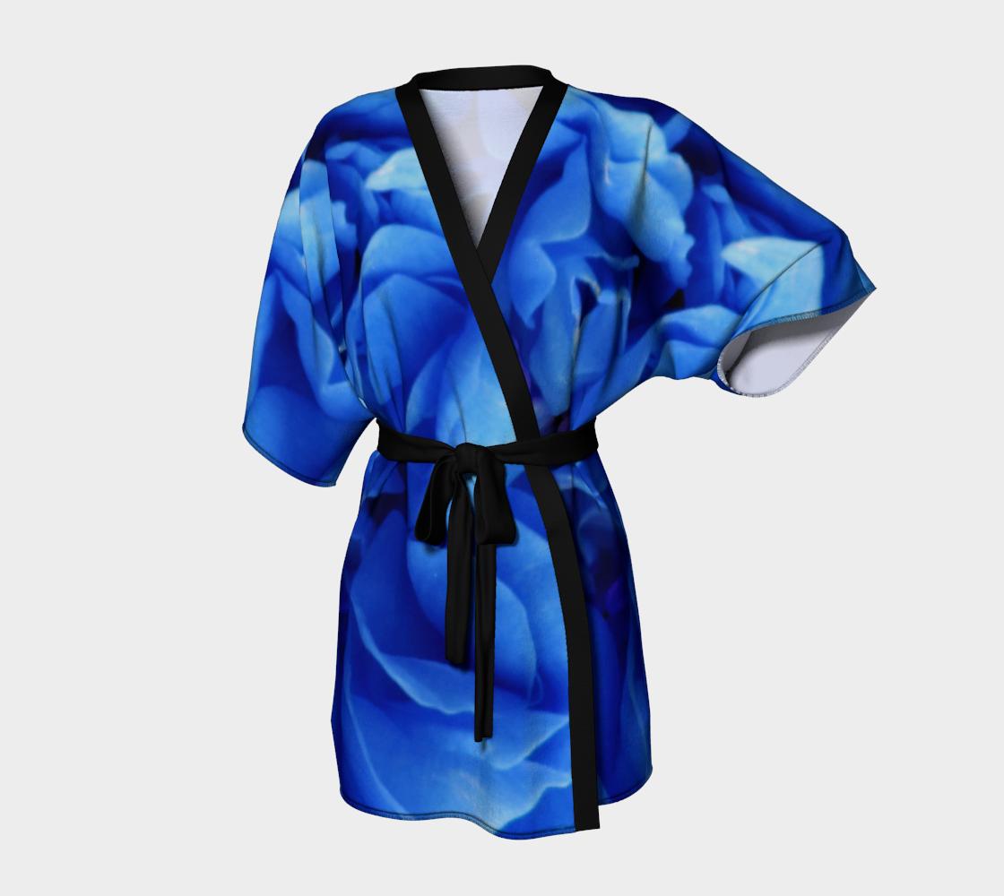 Aperçu de Blue Rose Kimono Robe 160626a