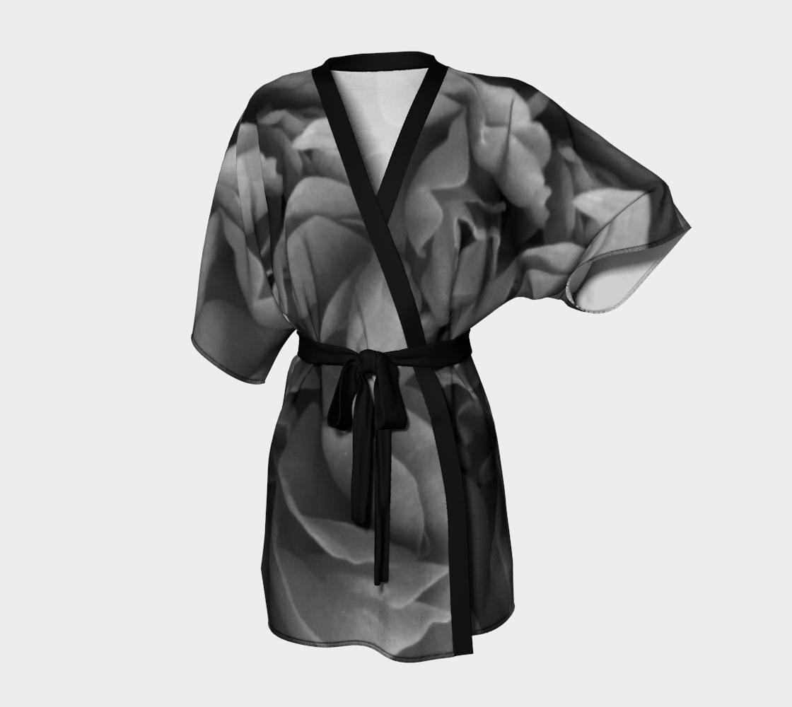 Aperçu de Black Rose Kimono Robe 160527a