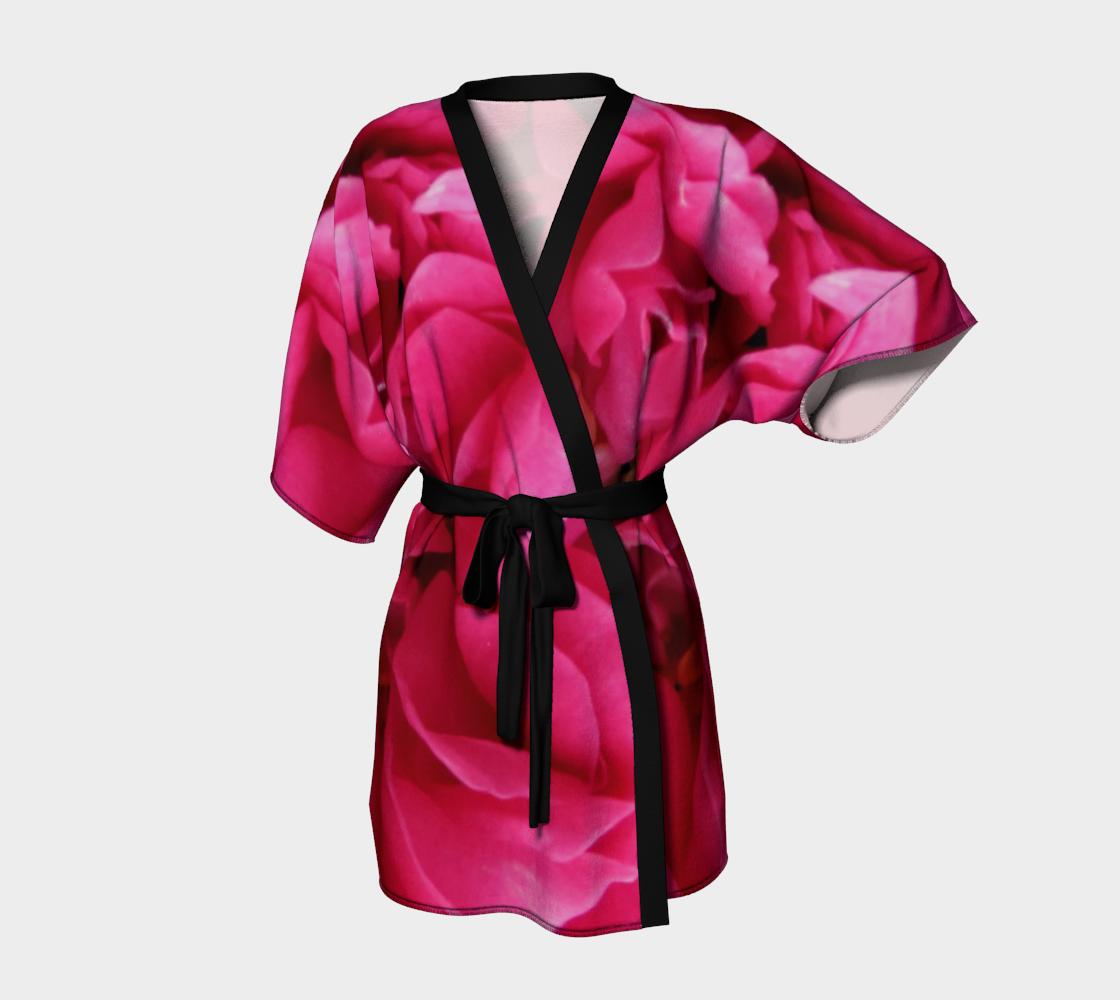 Aperçu de Multi Petaled Rose Kimono Robe 160526a