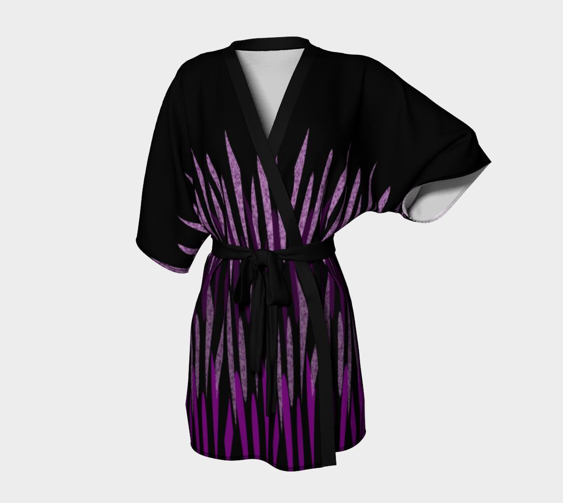 Purple Ice Abstract Kimono Robe preview
