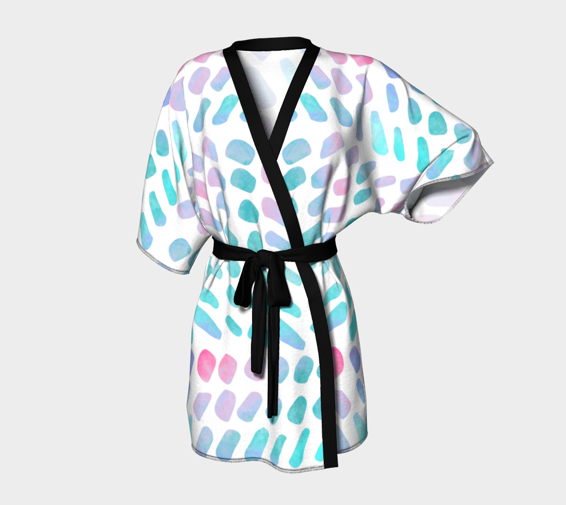 Pink and Blue Cotton Candy Kimono Robe preview
